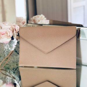 Bags - Tan Envelope Wristlet / Clutch